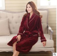 Wholesale 2016 age season coral fleece male couples with thickening robe leisure wear flannel pajamas hotel bathrobe