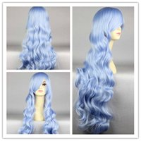 Wholesale Long Charm MIXED COLOR Wavy Curly Full Lolita Hair Wigs Cosplay Costume Wig