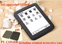 Wholesale e reader BOYUE T62 and cover dual core G eink touch screen backlight Android WIFI ebook reader gift pu case