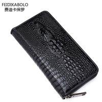 aligator leather - FD BOLO Brand Wallet Men Leather Wallets Aligator Handy Bags Coin Purse Monederos Carteras Hombre Mens Wallets Man Clutch Bags