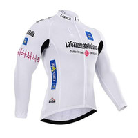 Cheap Tour de france Italy white Autumn or winter fleece 2015 Cycling Jerseys Bike Bicycle Long Sleeves Mountaion MTB cycling Jersey Clothing