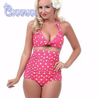 bathing services - New Dot High Waist Sexy Bikini High Service Push Up Strappy Swimsuit XL Leopard Floral Bathing Suits Plus Size Swimwear for Women