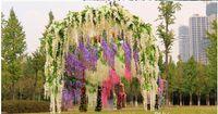 Декор Довольно элегантный Глициния венчания 110см 75см 4 цветов Искусственные цветы декоративные гирлянды для венчания партии Главная DHL Свободный корабль
