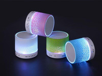 audio inserts - Colorful LED lights Mini wireless Insert TF card the radio Speakers Bluetooth Speakers portable speakers mini Speaker for Promotion gift