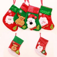 Wholesale Santas Stocking Kids Favourite Styles Christmas Stocking glitter Velvet Christmas Socks Gift Bags Decorative Socks Candy Bags