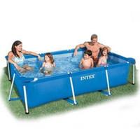 Wholesale INTEX frame pool swimming pool rectangular frame pool family inflatable swimming pool size x200x75cm