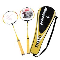 Wholesale 2Pcs Durable Lightweight Training Badminton Racket Racquet with Carry Bag In outdoor Sport Equipment