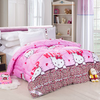Wholesale Spring and autumn seasons quilts multicolor printing style Comforter polyester fiber filled cm full size KG