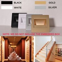 baby stairs - 2 W LED Wall Plinth Recessed Stairs Steps Light Aisle Corridor Footlight Porch Hallway Hotel Lamps Walkway Baby Room Night Lights V