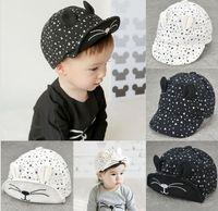 baby girl sunhat - 2016 Kids Boys Girls Sunhats Children Fashion Cute Triangle Caps Cat Ears Baseball Peaked Hats Summer Baby Caps K7151