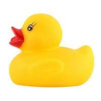 Wholesale Funny baby bath toys Soft Rubber Squeaky Ducky Animal Toy Safety Baby Bath Tub Toy