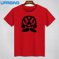 auto graphic - New T Shirt Men Brand VW FACE Volkswagen Auto Printed T shirt Graphic Tees Mens Tshirt Short Sleeve Cotton O Neck