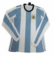 Wholesale Thai Argentina Long sleeve Copa America years Soccer Jersey football full shirt