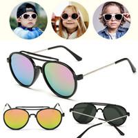 arming pilots - 2016 Vintage Metal Frame Kids Sunglasses UV400 Sunglasses For Kids Fashion Kids Sunglasses With Soft Arm