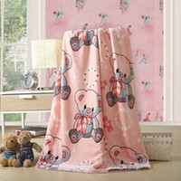 baby blanket material - Fashion Cartoon YunTiao Velvet Baby Children Blanket Super Soft Throw Blanket Double Layer Warm Travel Blanket Healthy Superior Raw Material