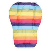 baby double strollers - Waterproof Baby Stroller Cushion Pram Pad Baby Chair Car Seat Pads Double side Striped Baby Stroller Accessories