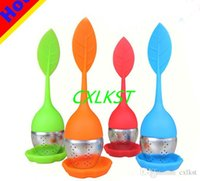 Wholesale Infuser Loose Leaf Tea Stainless Steel Strainer Drip Tray Silicone Herbal Filter