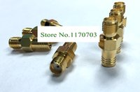 Wholesale 100 SMA Female jack to SMB Female RF connector straight Gold plating Plug