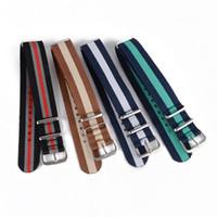 Wholesale Fashion Nylon Wrist Watch Band Buckle Straps Mens Colors mm