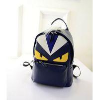 Wholesale 2017 new fashion backpack shoulder bag men and women backpack little monster travel backpack schoolbag pu leather