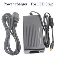 Wholesale Power supply A W V Transformer Adapter AC V To DC V Charge For LED Strip Light with Cable fit EU AU US UK Plug DY005