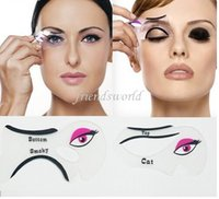 Wholesale Hot selling Cat Eyeliner Stencil Makeup Eyeliner Stencils Models Card Makeup Tools Eyebrow Stencils