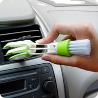 Wholesale Double Ended Air Conditioner Cars Air Outlet Cleaner Computers Keyboards Duster Window Leaves Cleaning Cleansing Brush Tool