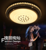 bathroom ceiling design - LED Ceiling Lambs Round Down light Indoor Ceiling lights fixture For Livingroom Bedroom Bathroom Modern with Crysta Design w w w