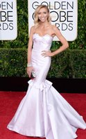 achat en gros de golden globe robe blanche-2015 72ème Golden Globe robe de célébrité Giuliana Rancic sweetheart dentelle Backless satin blanc Backless Tapis rouge robes de soirée Dhyz 01