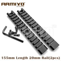 aluminum side rails - Armiyo Aluminum Long Weaver mm Picatinny mm Length Rail Set Handguard Side Rail Mount Series Hunting Gun Accessories