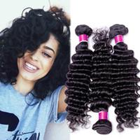 Wholesale 7A Unprocessed Peruvian Virgin Hair Deep Wave Brazilian Malaysian Indian Mongolian Peruvian Deep Wave Virgin Hair Cheap Human Hair