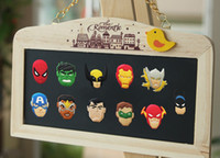 Wholesale 5 Hot Cartoon Avengers Hulk Batmen Fridge Magnet Home Decoration Blackboard Magnetic Sticker Kids Party Favors Gifts HIgh Quality