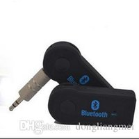 Wholesale Universal mm Bluetooth Car Kit A2DP Wireless AUX Audio Music Receiver Adapter Handsfree with Mic For Phone MP3 Retail Box E021