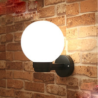 Wholesale Acrylic Ball LED Wall lights bedside Ball wall lamp AC85 V outdoor wall lamp Bathroom anti fog mirror lights LED garden lamp