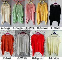 Wholesale New Womens Batwing Casual Loose Hollow Asymmetric Knit Cardigan Tops Sweater Jumper Pullover