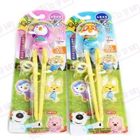 animations pairs - Korean Animation Pororo Petty Crong Edison Training Chopsticks Kids Right Left DHL Fedex Free