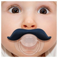 Wholesale Baby pacifier clips baby feeder Funny beard peculiar infant Cute Teeth Mustache Halloween Nipples Pacifiers chupeta wubbanub