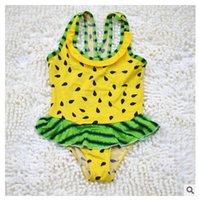 baby swim age - Watermelon baby girls Bikinisconjoined swimsuit children kids ages baby girls swimwear swim beach summer beachwear DHL free