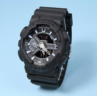 acrylic sports surfaces - New Summer Male G Sport Watches LED Waterproof Hiking S Shock Wristwatch Frosted Surface GA110 Watch with Original Box