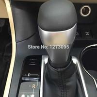 auto interior trim parts - For Toyota Highlander ABS Chrome Gear Shift Knob Cover Decoration Trim auto parts Car Styling sticker door trim Interior Accessories