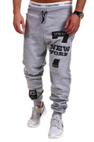 clothing new york - Korean Leisure NEW YORK Letter Stamp Design Fashion Sports Pants Gym Shark Clothing Joggers Camouflage Army Jogging Outdoor