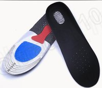 Wholesale 2 size KKA64 Gel Orthotic Sport Shoes Insoles Pads For Women Men Heel Cushion Running Insoles Insert Shoe Pad Arch Support Insoles