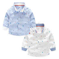 Wholesale Children Shirt Cotton Star Print Baby Sark New Kid Clothes Autumn Winter for Boys Casual Long Sleeves Outwear Fashion
