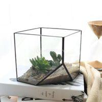 Wholesale Glass Terrarium Cube Fairy Garden House Greenhouse Size L