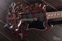 Cheap new arrival The Best China Carved SG electric guitar musical instruments