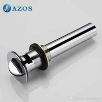 Wholesale Bathroom Sink Drainer Brass reverse Chrome Polished Overflow Hole Basin Parts Faucet Accessories PJXSQ002C Y