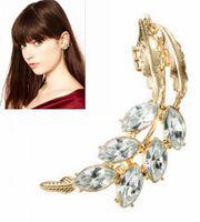 asos earrings - earrings Fashion jewelry New ASOS same style vintage tree leaves rhinestone stud earrings ear clip E307 cheap