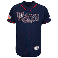 bay base - Mens Tampa Bay Rays Blank Navy Fashion Stars Stripes Flex Base Jersey Stitched Name