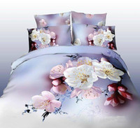 Wholesale Cotton d blue dolphins four double version of spring scenery with cotton quilt cover sheet bedding