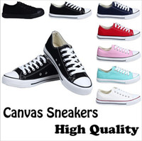 Wholesale With BOX Factory price promotional price femininas canvas shoes women and men high Low Style Classic Canvas Shoes Sneakers Canvas Shoe